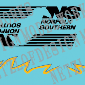 Norfolk Southern AC44C6M #4000 & 4001 Decal Sets