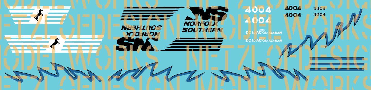 Norfolk Southern AC44C6M #4004 Decal Set