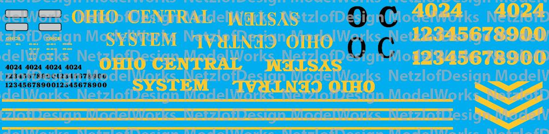 Ohio Central System Locomotive Decals
