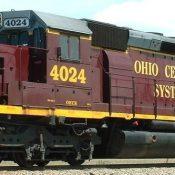 Ohio Central Maroon & Gray Locomotive Decal Set