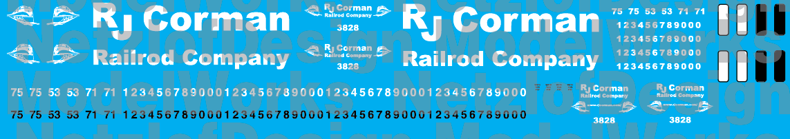 RJ Corman New Logo Decal Set