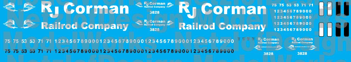 RJ Corman New Logo Decal Set
