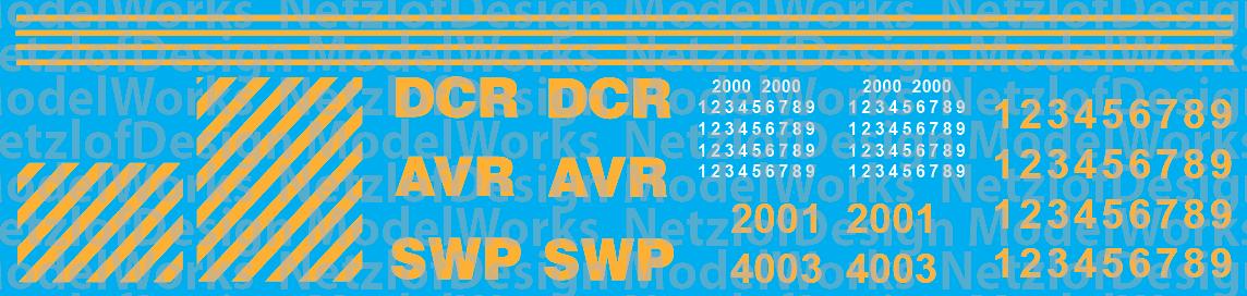 Carload Express Decal Set AVR, DCR, SWP