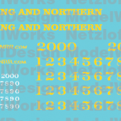 Reading and Northern SD38/SD40-2 Locomotive Decal Set
