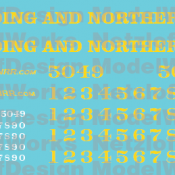 Reading and Northern SD50 Locomotive Decal Set