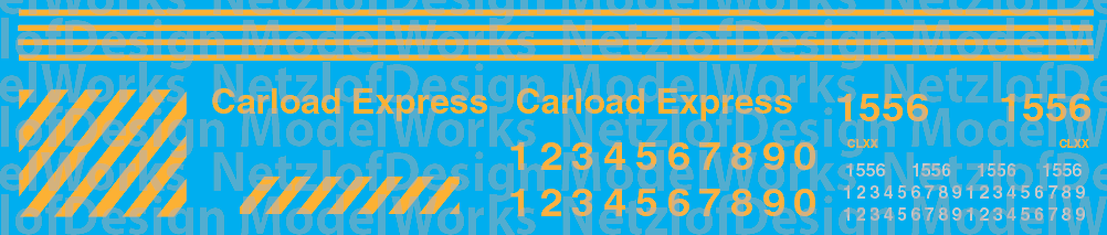 Carload Express (CLXX) Switcher Decal Set