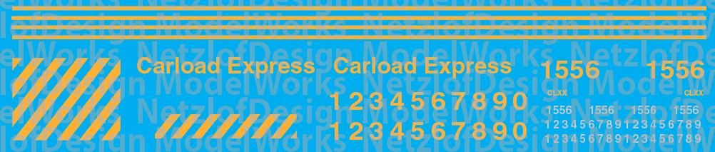 Carload Express (CLXX) Switcher Decal Set