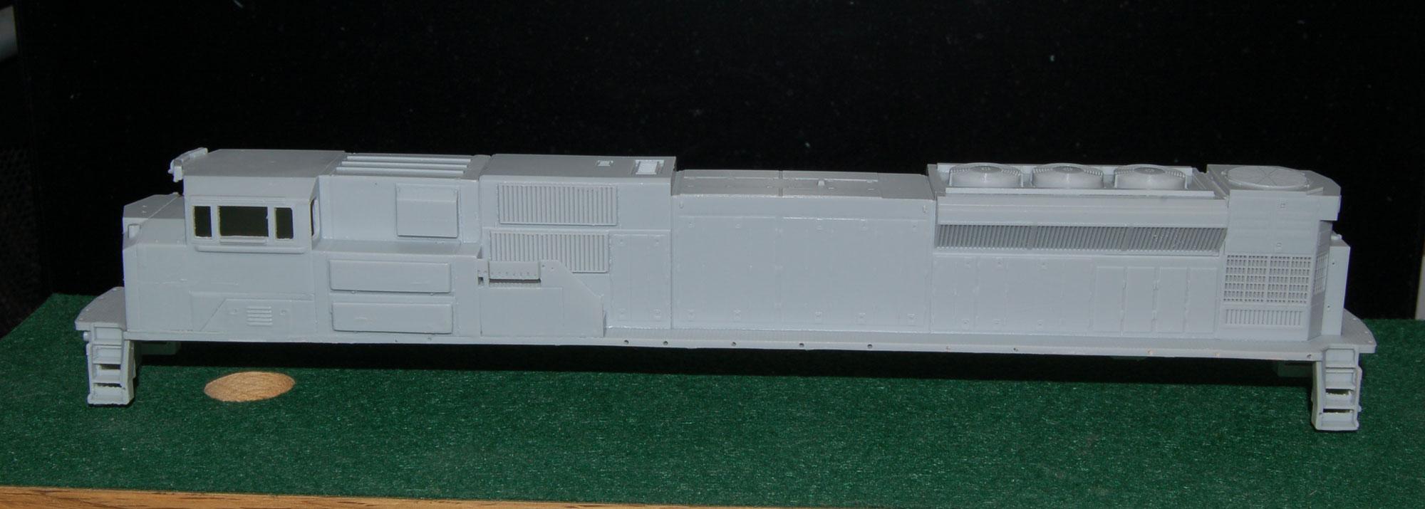 HO SD80ACU Locomotive Shell
