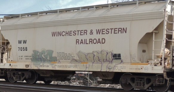Winchester Western 2 Bay Covered Hopper Decals
