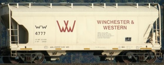 Winchester Western 2 Bay Covered Hopper Decals with Logo