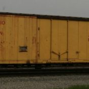 Akron, Canton and Youngstown Box Car Yellow/Red Lettering Decals