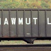 Pittsburg Shawmut 100t 3 Bay Hopper with Block Lettering
