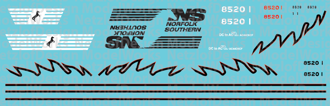 Norfolk Southern 8520 Decal Set