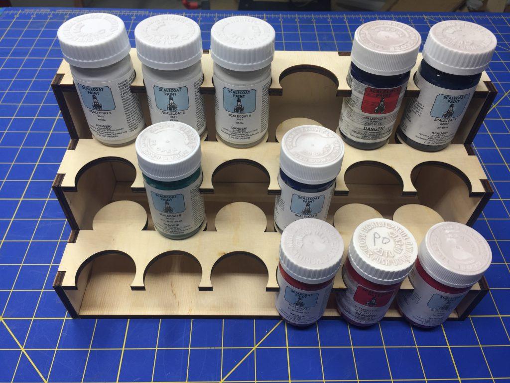 Scalecoat 2oz Paint Rack – 18 Bottle | CMR Products