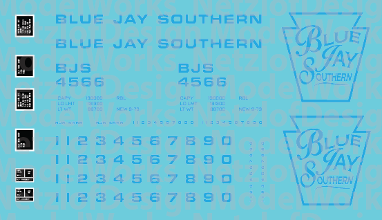 Blue Jay Southern Box Car - Blue