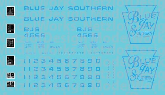 Blue Jay Southern Box Car - Blue