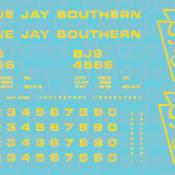 Blue Jay Southern Box Car (BJS) – Yellow Lettering