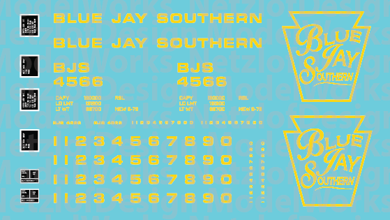 Blue Jay Southern Box Car - Yellow