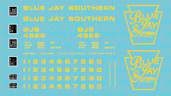 Blue Jay Southern Box Car - Yellow