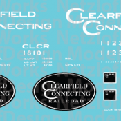 Clearfield Connecting Box Car (CLCR) – White Lettering