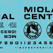 Miola Central Railroad Box Car Decal Set. Black Lettering