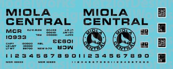 Miola Central Railroad Box Car Black
