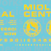 Miola Central Railroad Box Car Decal Set. Yellow Lettering