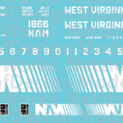 West Virginian Northern Box Car (WVN) – White Lettering