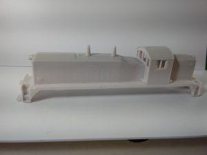 HO Scale NW5 Locomotive Shell