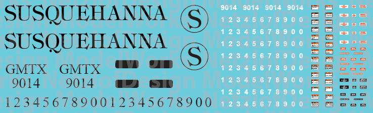 Susquehanna Locomotive Decals