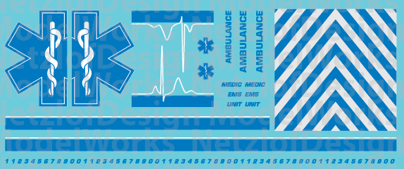 Ambulance Star of Life Decals