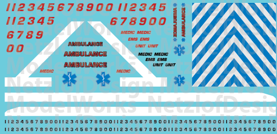 Striped Ambulance Decals