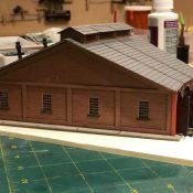 Pennsylvania Railroad 3 Stall Round House Laser cut kit