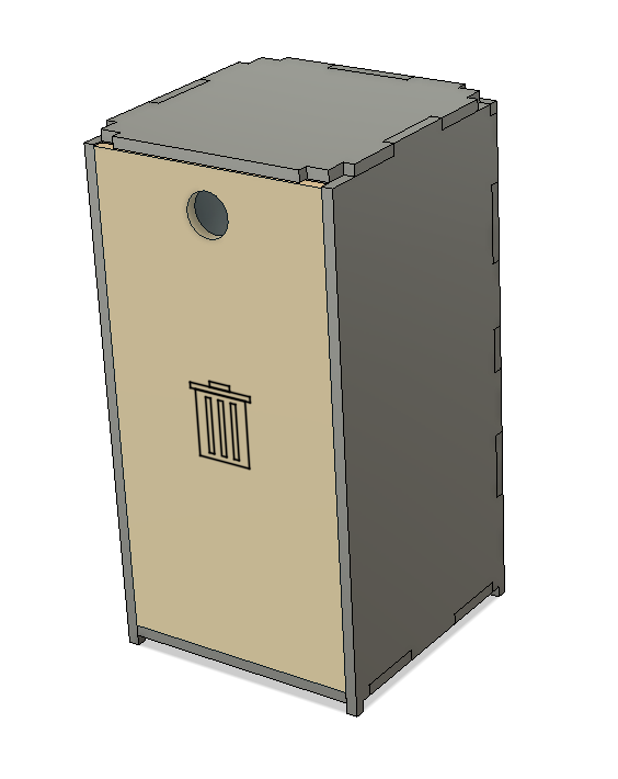 TabTec Workbench Garbage Bin
