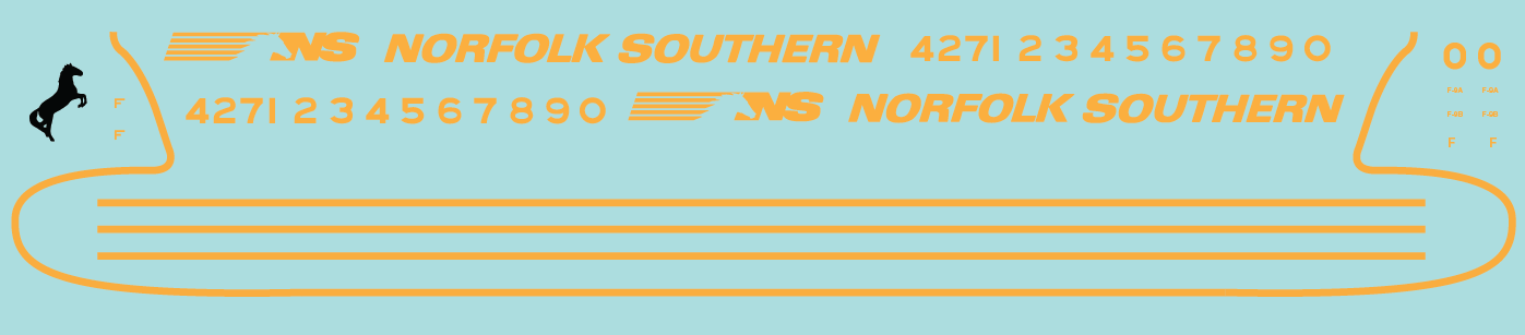 Norfolk Southern F Unit Decals