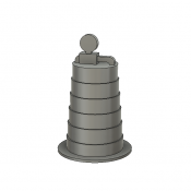 Scenery Details – Plastic Construction Barrel with Light