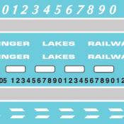 Finger Lakes Railway GP38 – Alternate Lettering Style (2019+) Decal Set