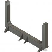 N Scale Detail Parts – Short Log Bunk