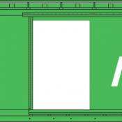 Rock Island Green 40ft Box Car Decal Set