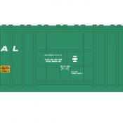 Penn Central X58 Box Car 2 Line Small Logo Decal Set