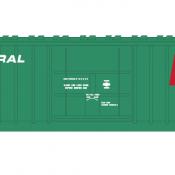 Penn Central X58 Box Car 1 Line Red P Logo Decal Set
