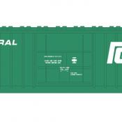 Penn Central X58 Box Car 1 Line Large Logo Decal Set