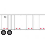 Semi-Trailer JB Hunt Vehicle Decals