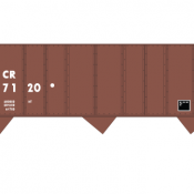 Conrail H43c Open Hopper Angled Logo Decal Set