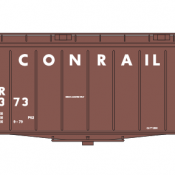 Conrail Covered Hopper Airslide 40ft Large Name Brown/White