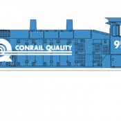 Conrail Locomotive Quality Switcher Decals
