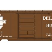 Delaware Hudson Box Car 40ft Bridge Line White Shield