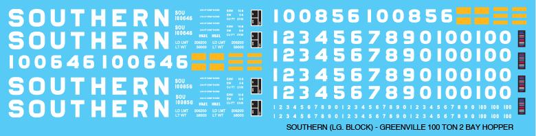 FEC Ortner Open Hopper Large Lettering Decal N Scale
