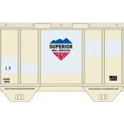 Superior GWIX 2 Bay PS2 Covered Hopper Decals