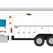 United Electric Truck Decals